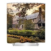 Tudor In Autumn Shower Curtain