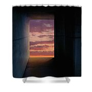 Tunnel With Light Shower Curtain