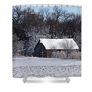 Turn The Page Winter Edition Shower Curtain
