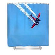 Twin Engine Plane  Shower Curtain