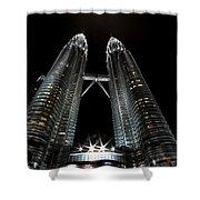 Twin Towers Petronas Kuala Lumpur Malaysia At Night Shower Curtain