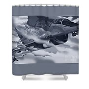Two-tailed Tomcat Shower Curtain