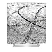 Tyre Tracks Shower Curtain