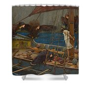Ulysses And The Sirens Shower Curtain