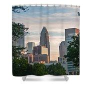 Uptown Charlotte North Carolina Cityscape Shower Curtain