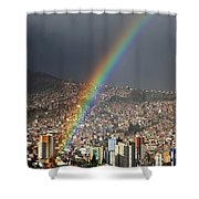 Urban Rainbow La Paz Bolivia Shower Curtain
