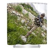 U.s. Army Specialist Walks Shower Curtain