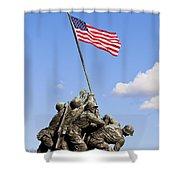 Us Marine Corps Memorial Shower Curtain