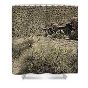 U.s. Soldiers Provide Security Shower Curtain