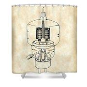 Vacuum Tube Patent 1942 - Vintage Shower Curtain