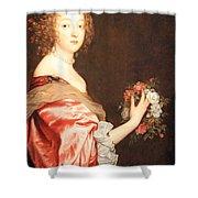 Van Dyck's Catherine Howard -- Lady D'aubigny Shower Curtain
