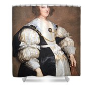 Van Dyck's Lady With A Fan Shower Curtain