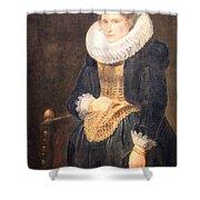Van Dyck's Portrait Of A Flemish Lady Shower Curtain
