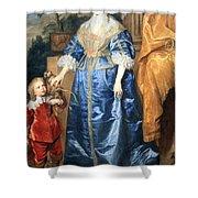 Van Dyck's Queen Henrietta Maria With Sir Jeffrey Hudson Shower Curtain