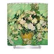 Van Gogh's Roses Shower Curtain