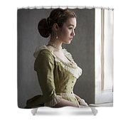 Victorian Woman At The Window Shower Curtain
