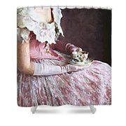 Victorian Woman Taking Tea Shower Curtain