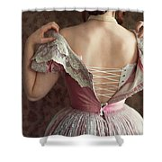 Victorian Woman Undressing Shower Curtain