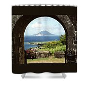 View From Brimstone Hill Fortress Shower Curtain