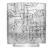 Villard De Honnecourt (c1225-c1250) Shower Curtain