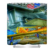 Vintage Airplanes Shower Curtain