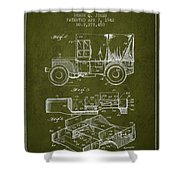 Vintage Military Vehicle Patent From 1942 Shower Curtain