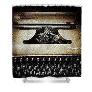 Vintage Olympia Typewriter Shower Curtain