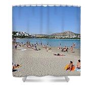 Vouliagmeni Beach Shower Curtain