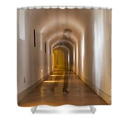 Walking In A Tunnel Shower Curtain