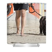 Walking Shower Curtain
