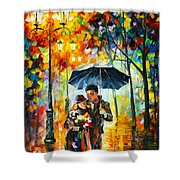 Warm Night Shower Curtain