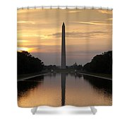 Washington Monument Sunrise Shower Curtain