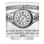 Watch Bracelet, 1891 Shower Curtain