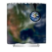 Water And Earth Shower Curtain