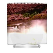 Water Over Rock  Shower Curtain