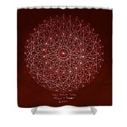 Wave Particle Duality Shower Curtain
