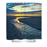 Wells Beach Maine Sunrise Shower Curtain