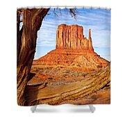 West Mitten Monument Valley Shower Curtain