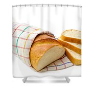 White Bread With Slices Shower Curtain