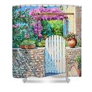 White Gate Shower Curtain