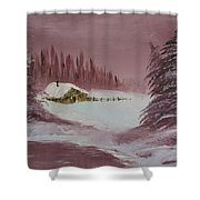 Whose Woods Shower Curtain