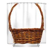 Wicker Basket Number Twelve Shower Curtain