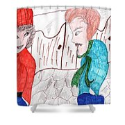 Will You Go Out With Me Shower Curtain