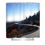 Winding Curve At Blue Ridge Parkway Shower Curtain