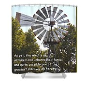 Windmill With Lincoln Quote Shower Curtain
