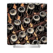 Wine Bottles Shower Curtain by Elena Elisseeva
