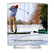 Winter Golf Shower Curtain