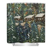 Winter Has Come To Door County. Shower Curtain