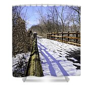 Winter On Macomb Orchard Trail Shower Curtain