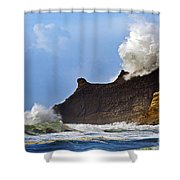 Winter Storm At Cape Kiwanda - Oregon Shower Curtain